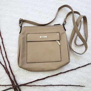 Roots 73 Crossbody faux leather bag tan color